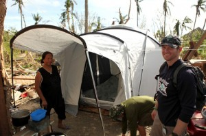 ShelterBox tent in the Philippines 2013