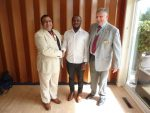 Visit by District Governor and Gerald Agibarakwe